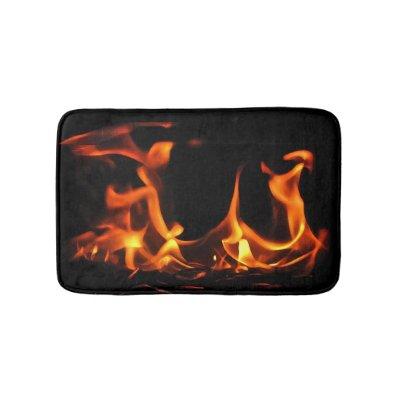 Dancing Fire Bath Mats