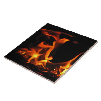 Dancing Fire Ceramic Tile