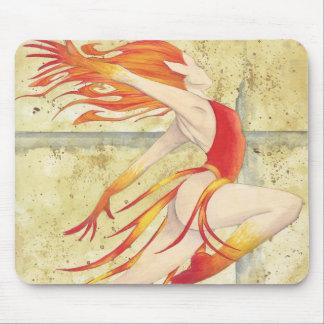 Dancing Fire Fairy mousepad