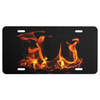 Dancing Fire License Plate
