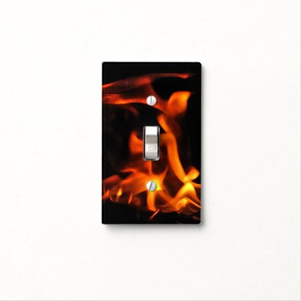 Dancing Fire Light Switch Cover