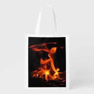 Dancing Fire Reusable Grocery Bag