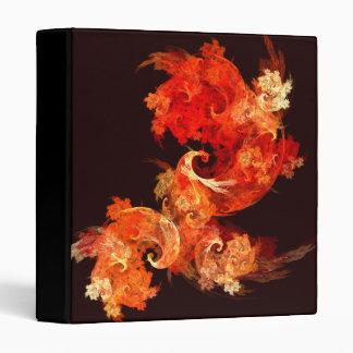 Dancing Firebirds Abstract Art Binder