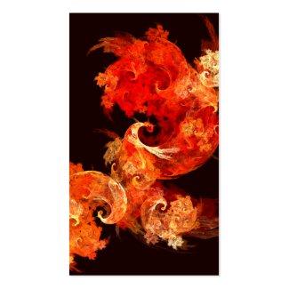 Dancing Firebirds Abstract Art Business Card