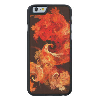 Dancing Firebirds Abstract Art Carved® Maple iPhone 6 Case