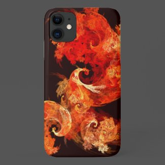 Dancing Firebirds Abstract Art Case-Mate iPhone Case