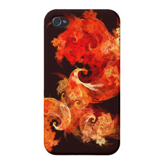 Dancing Firebirds Abstract Art Covers For iPhone 4