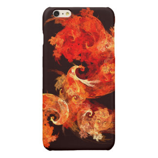 Dancing Firebirds Abstract Art Glossy iPhone 6 Plus Case