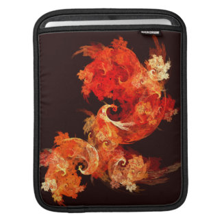Dancing Firebirds Abstract Art iPad Sleeve