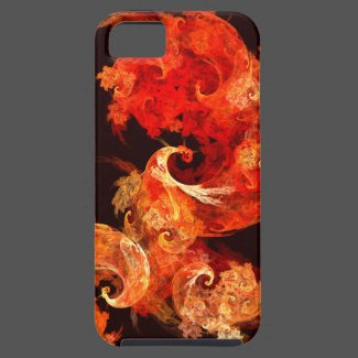 Dancing Firebirds Abstract Art iPhone 5 Case-Mate iPhone Case