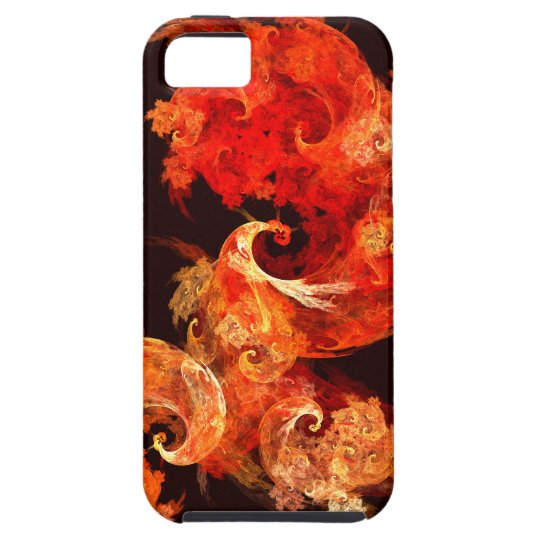 Dancing Firebirds Abstract Art iPhone 5 iPhone SE/5/5s Case