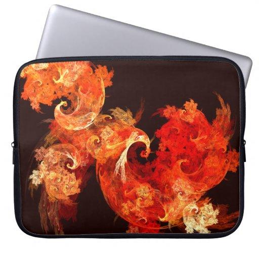 Dancing Firebirds Abstract Art Laptop Sleeve