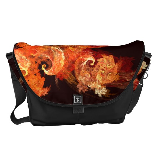 Dancing Firebirds Abstract Art Large Bag