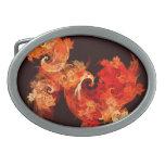 Dancing Firebirds Abstract Art Oval Belt Buckles