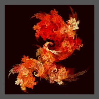 Dancing Firebirds Abstract Art Print