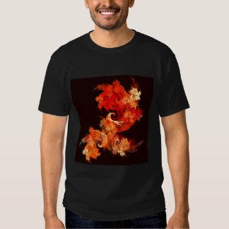 Dancing Firebirds Abstract Art T-Shirt