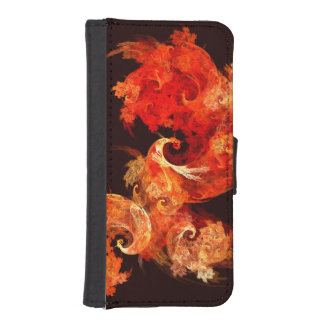 Dancing Firebirds Abstract Art Wallet Phone Case For iPhone SE/5/5s