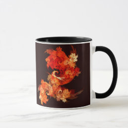 Dancing Firebirds Abstract Coffee Mug