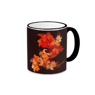 Dancing Firebirds Abstract Coffee Mug
