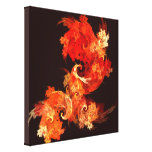 Dancing Firebirds Abstract Wrapped Canvas Print