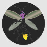 Dancing Firefly Round Stickers