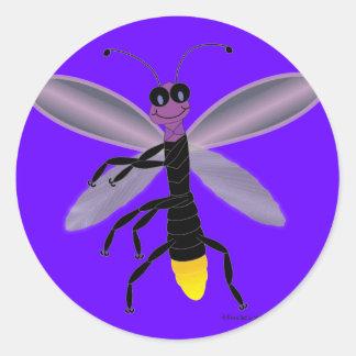 Dancing Firefly Classic Round Sticker