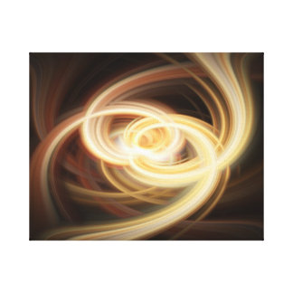 Dancing Flames Abstract Stretched Canvas Print