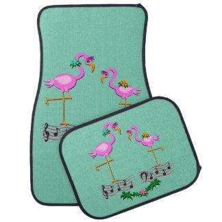 Dancing Flamingos Car Floor Mat