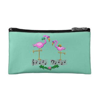 Dancing Flamingos Cosmetic Bag