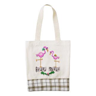 Dancing Flamingos Zazzle HEART Tote Bag
