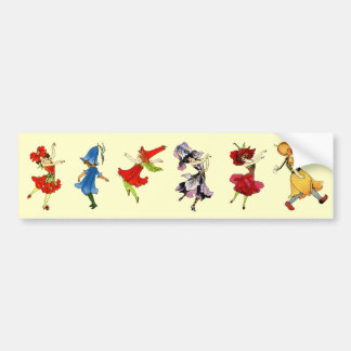 Dancing Flower Children Bumper Sticker