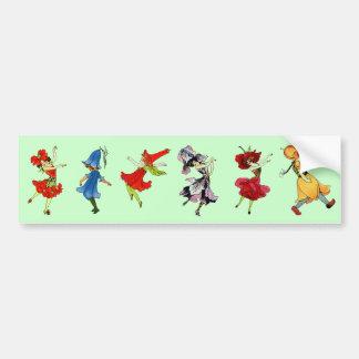 Dancing Flower Children Bumper Sticker