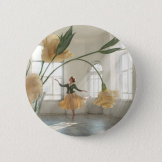 Dancing Flower Pinback Button