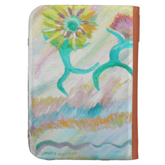 Dancing flowers cases for kindle