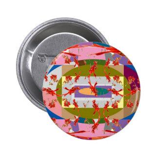 Dancing Flowers - Dance Floor Pinback Button