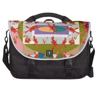 Dancing Flowers - Dance Floor Laptop Commuter Bag