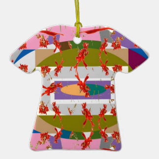 Dancing Flowers - Dance Floor Double-Sided T-Shirt Ceramic Christmas Ornament