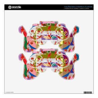 Dancing Flowers - Dance Floor Skins For PS3 Controllers