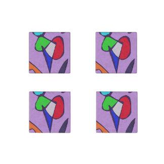Dancing Flowers Stone Magnet