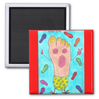 Dancing Foot 2 Inch Square Magnet