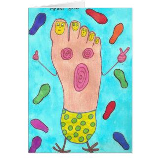 Dancing Foot  Card  Autism