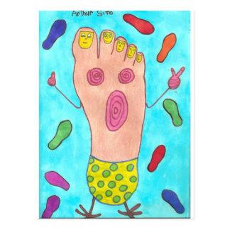Dancing Foot Postcard