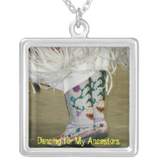 Dancing for My Ancestors Silver Necklace