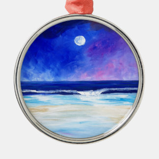 Dancing for the Moon reflective art statement Metal Ornament