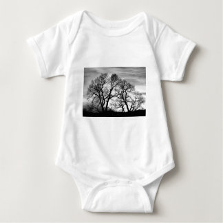 Dancing Forest Trees In Black and White Shirt