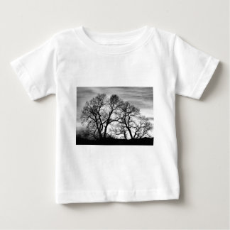 Dancing Forest Trees In Black and White Tee Shirt