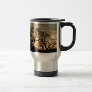 Dancing Forest Trees In The Golden Light Mugs