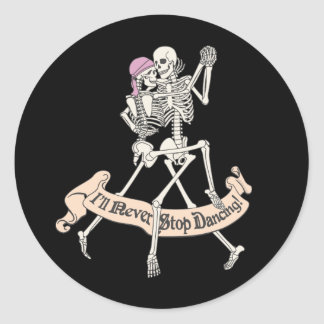 Dancing Forever Classic Round Sticker