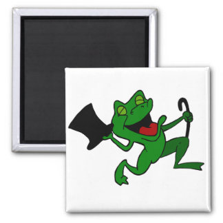 Dancing Frog 2 Inch Square Magnet