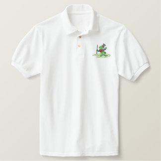 Dancing Frog Embroidered Polo Shirt